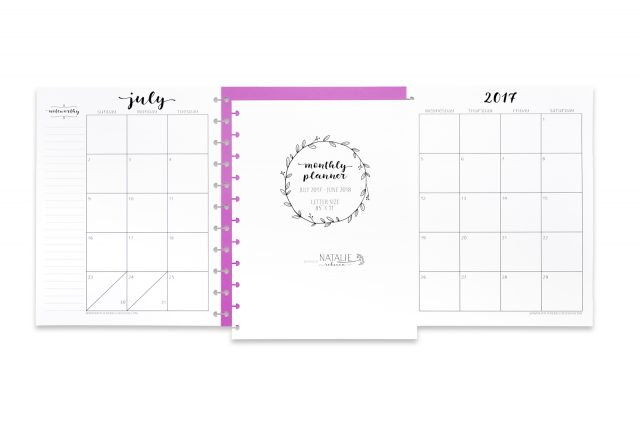 Monthly Planner | Natalie Rebecca Designs | Photo by Jebb Graff